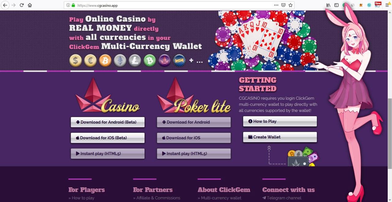 CGCASINO.APP  Bounty Program For DEC 2018