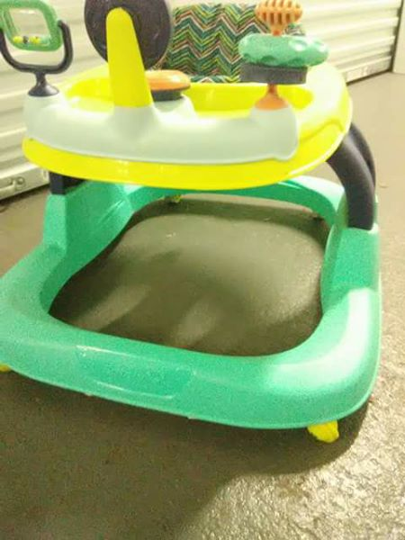 COLORFUL STROLLER WITH SOUNDS AT THE HIT OF A BUTTON, FOR BABY