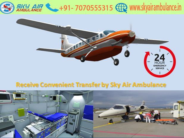 Convenience and Secure Air Ambulance in Jaipur by Sky