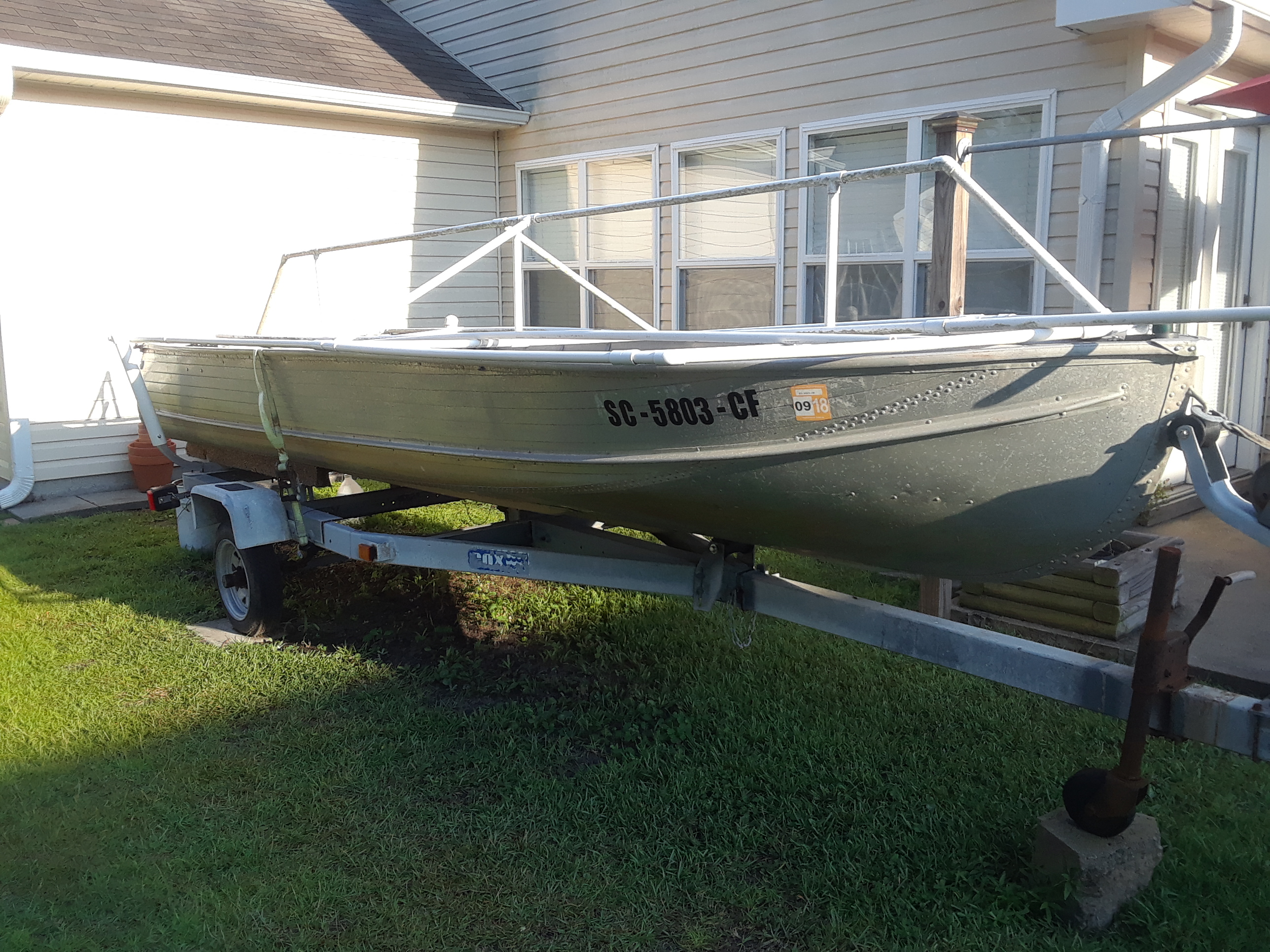 16' Aluminum Fishing Boat includes 15HP Suzuki Motor