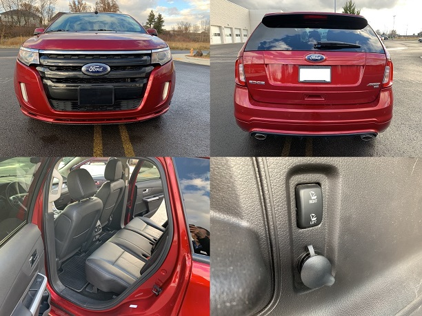 2013 Ford edge sport with black Interior