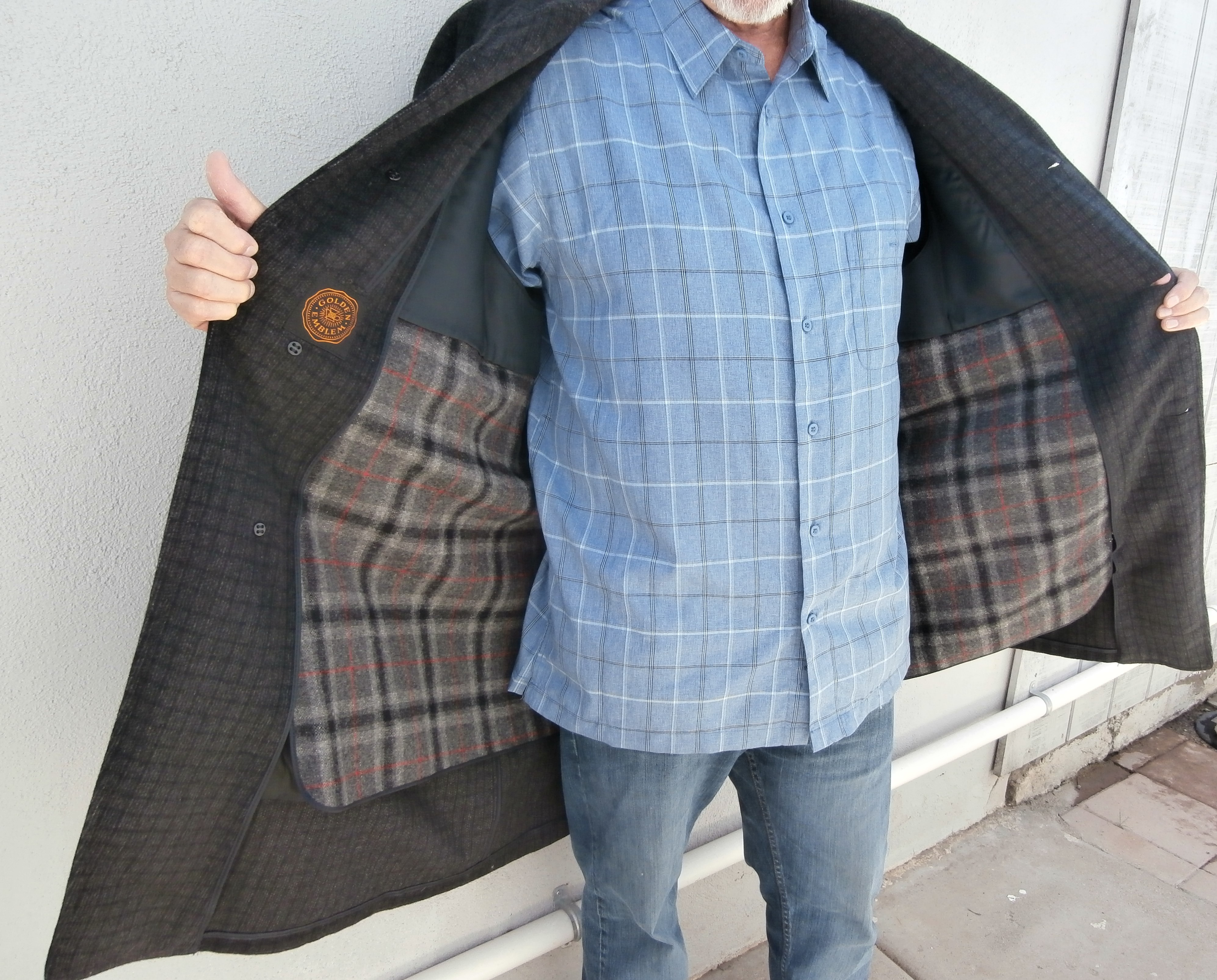 BEAUTIFUL HIGH END VINTAGE OVERCOAT – MEN'S  LATE 1960's/ EARLY '70s
