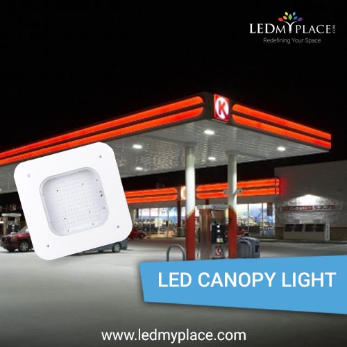 LED Canopy Light -- Ideal  For Gas Station Lighting