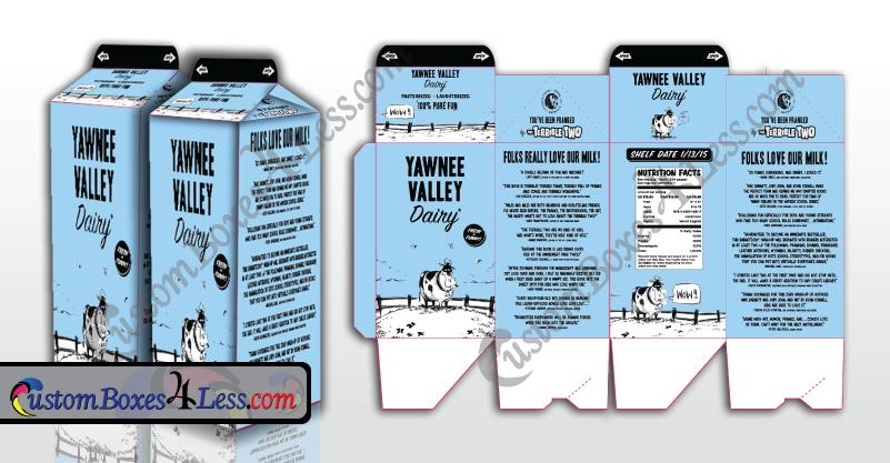Milk Carton Boxes| Milk Boxes | CustomBoxes4Less