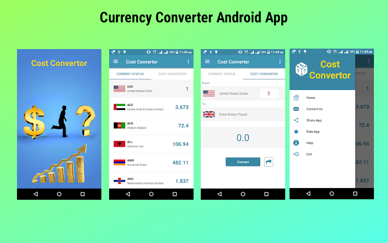Currency Converter Android App Source Code - Android Currency Converter Application