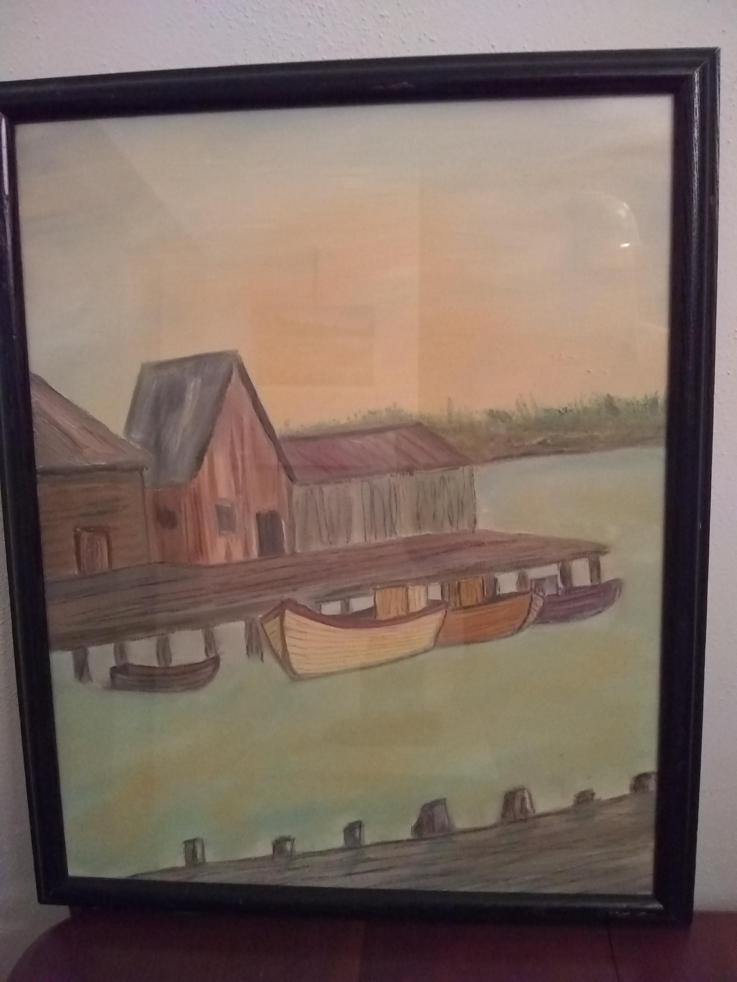 Painted Art  Boat Docks