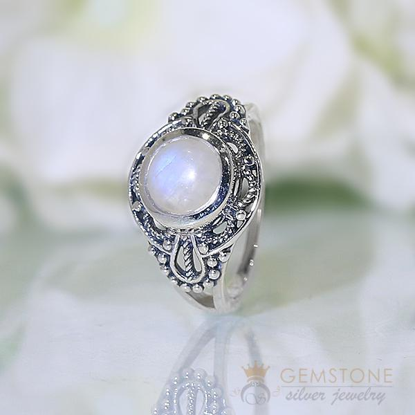 Moonstone Ring Shielded Beauty