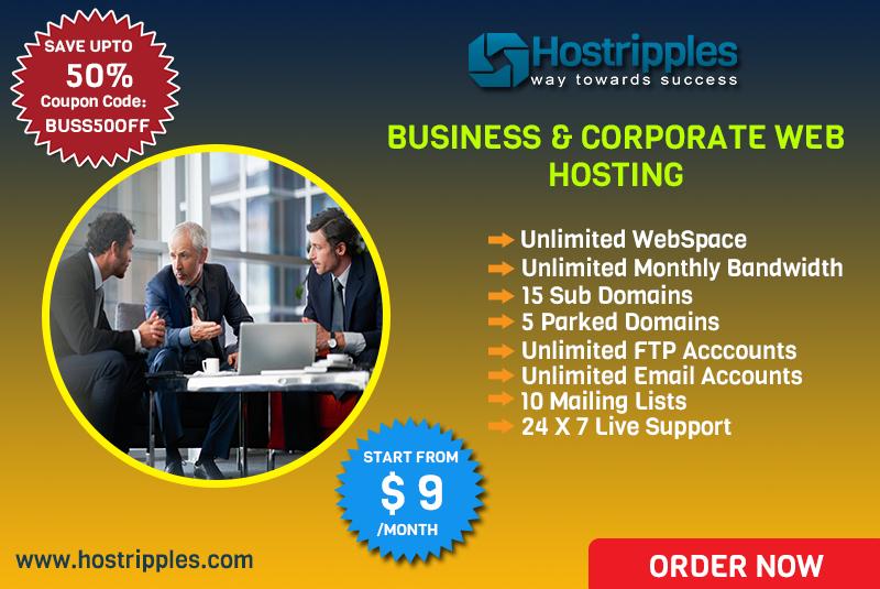 $9 Business Website Hosting and Corporate Web Hosting at Hostripples.