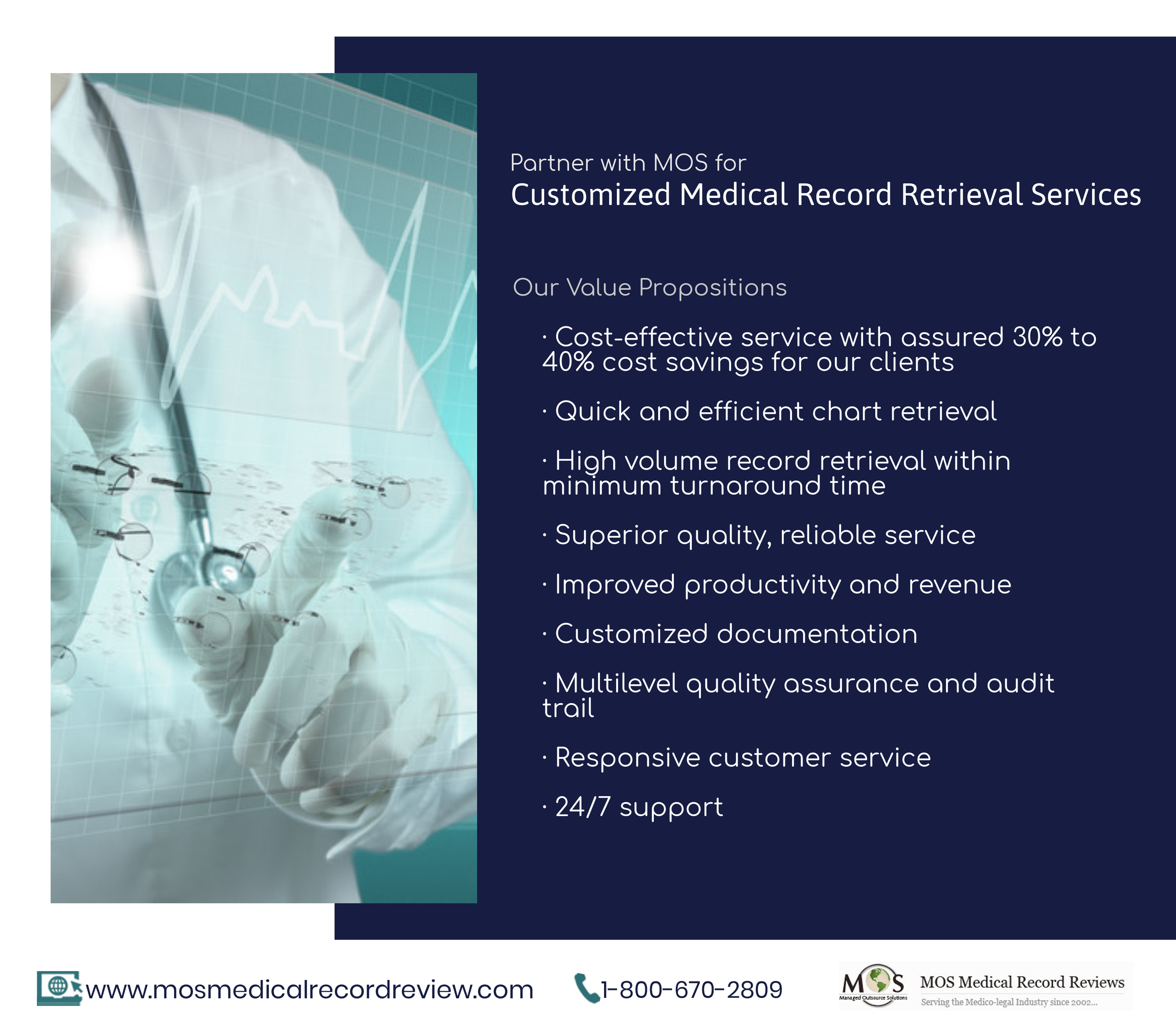 Partner with MOS for Customized Medical Record Retrieval Services
