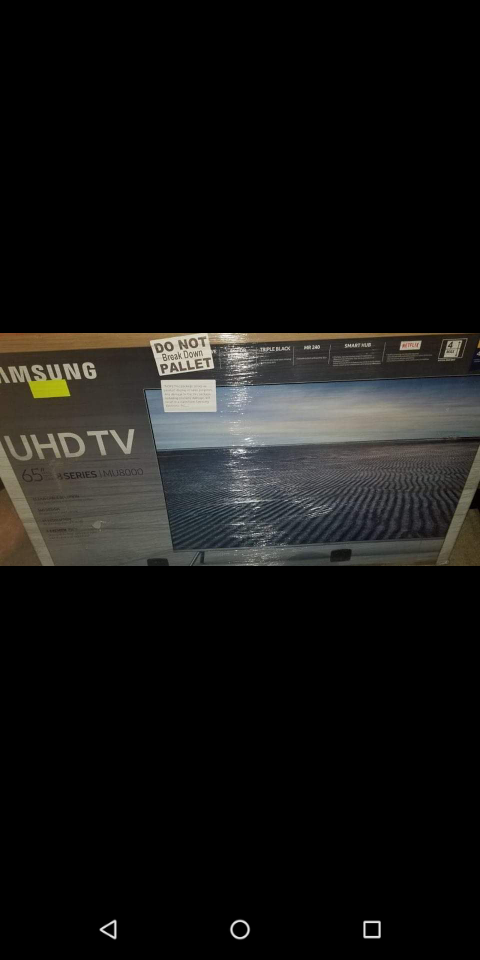 "BRAND NEW 65"" SAMSUNG UHD 4K SMART TV"
