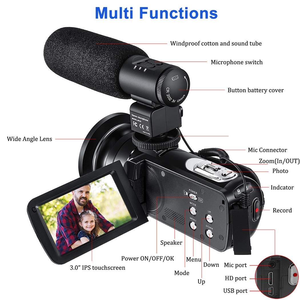 50% OFF Limited Edition CofunKool Full HD 1080P Video Camera Camcorder