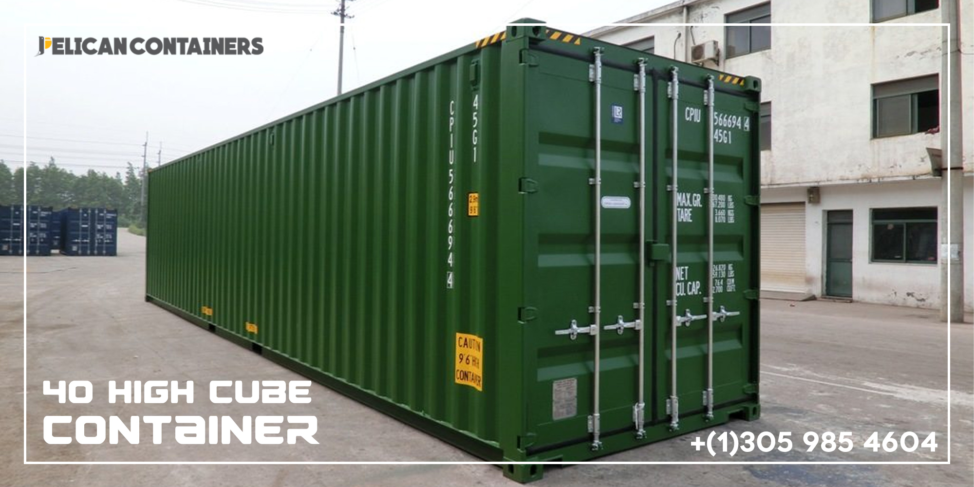 40HC CW Used Container for Sale in Boston - Pelican Containers