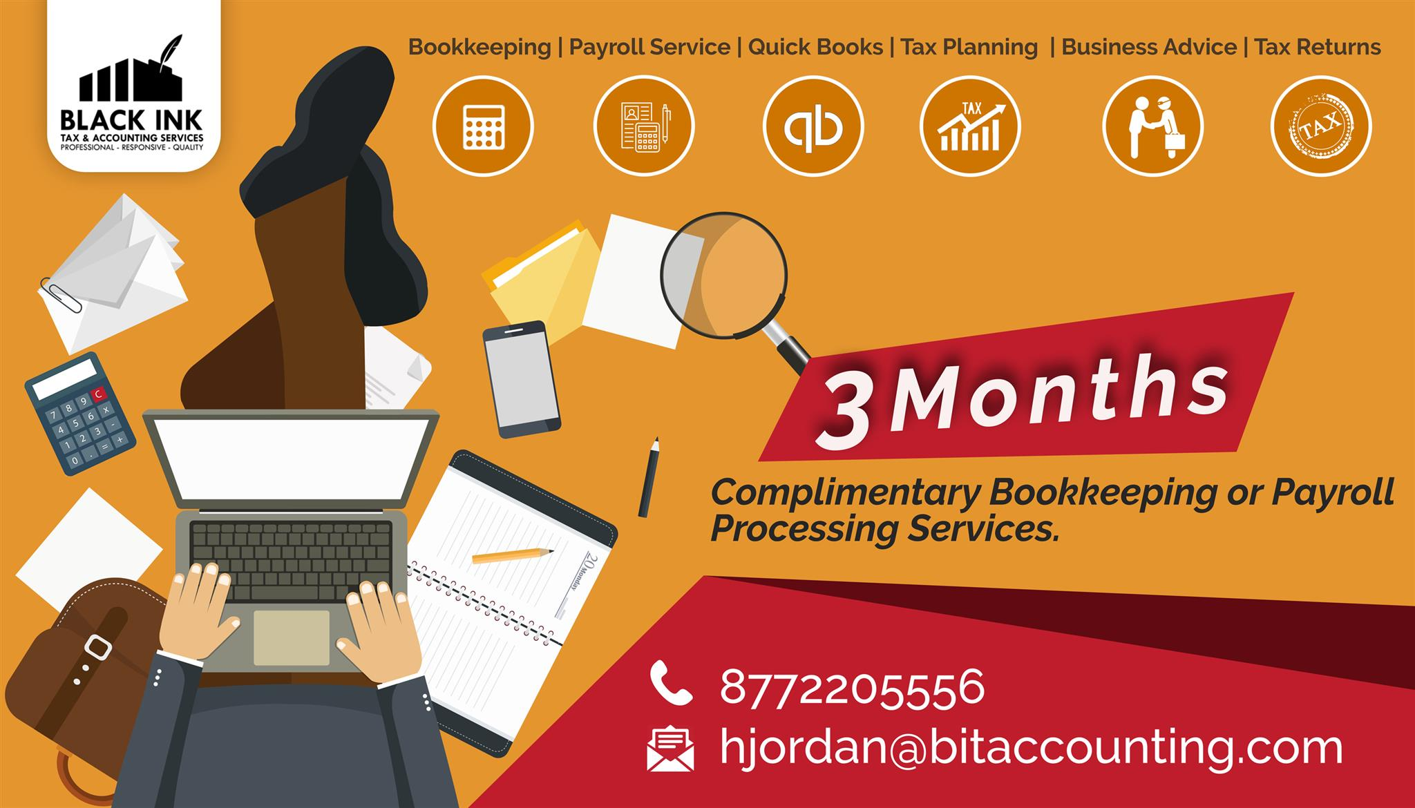 THREE-MONTHS FREE PAYROLL AND BOOKKEEPING SERVICES