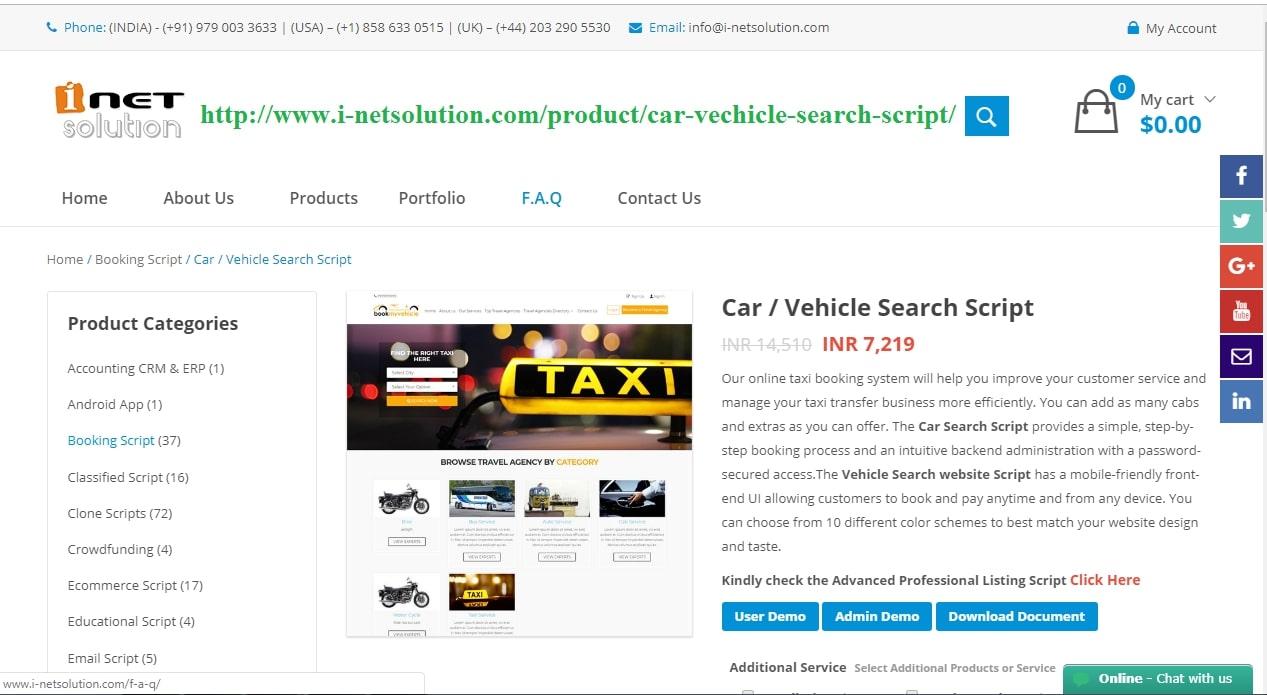 Truck booking script - Cargo booking script - Online transport booking script