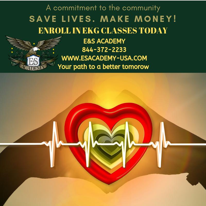 Save lives. Make money-Enroll in EKG classes today!
