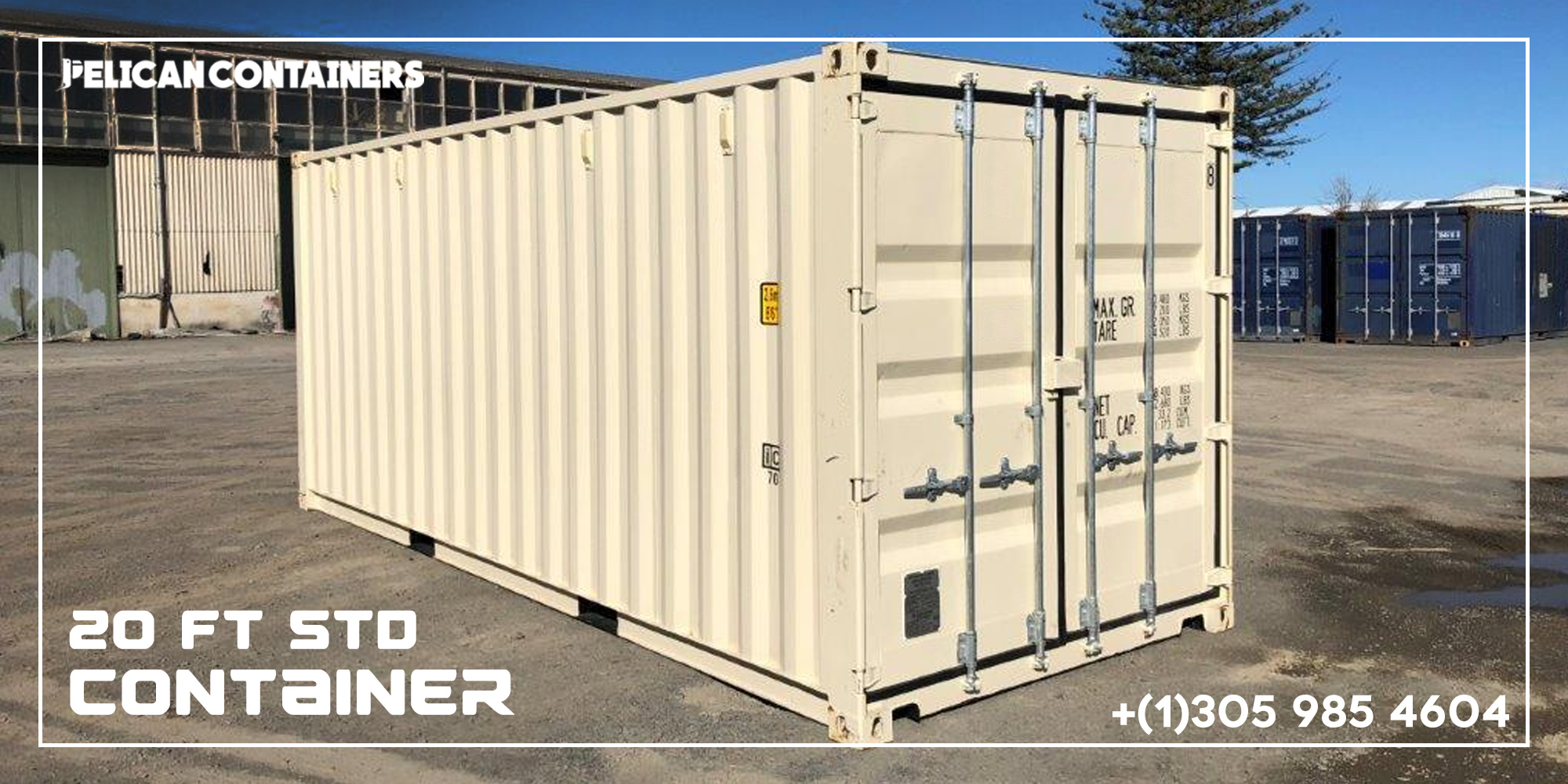 20' Std CW Shipping Container For Sale In Dallas - Pelican Containers