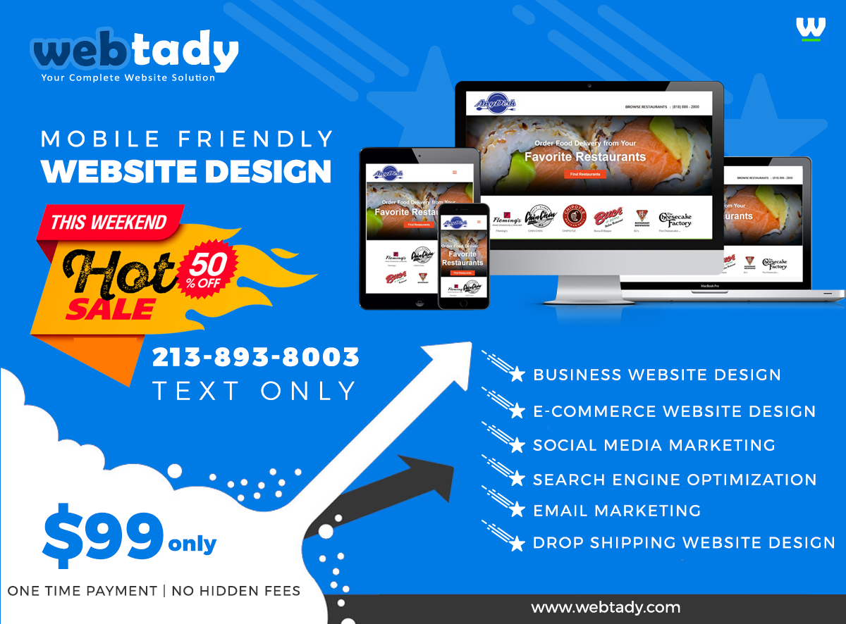 WEB DESIGN AT AFFORDABLE COST STARTING AT $99