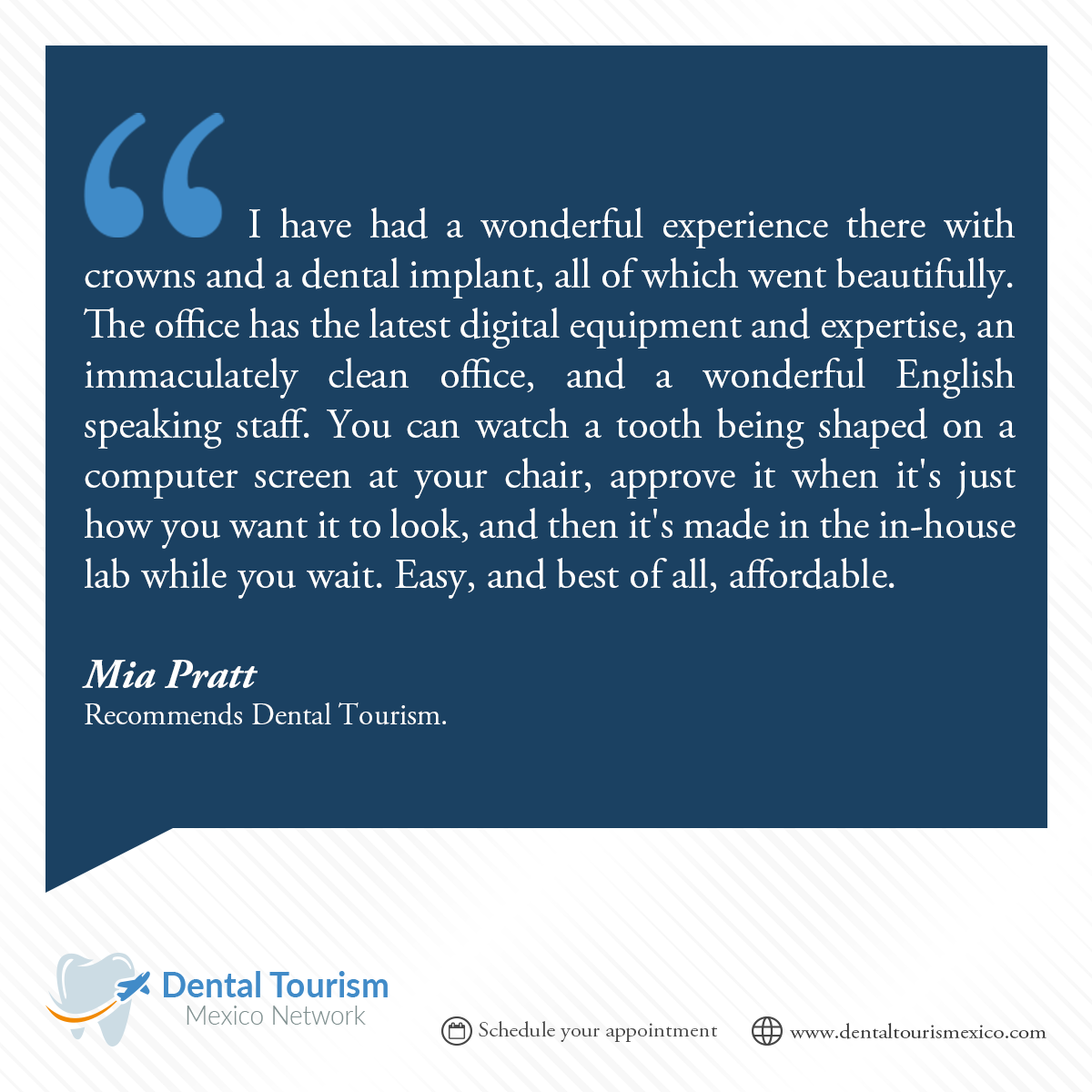 Dental Tourism Patients review and testimonials