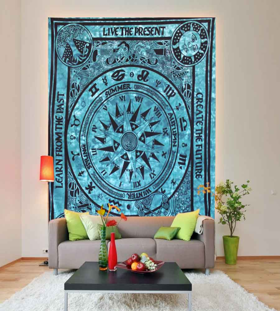 Refresh Your Own Space by Colourful & Unique Designed Zodiac Horoscope Wall Tapestry