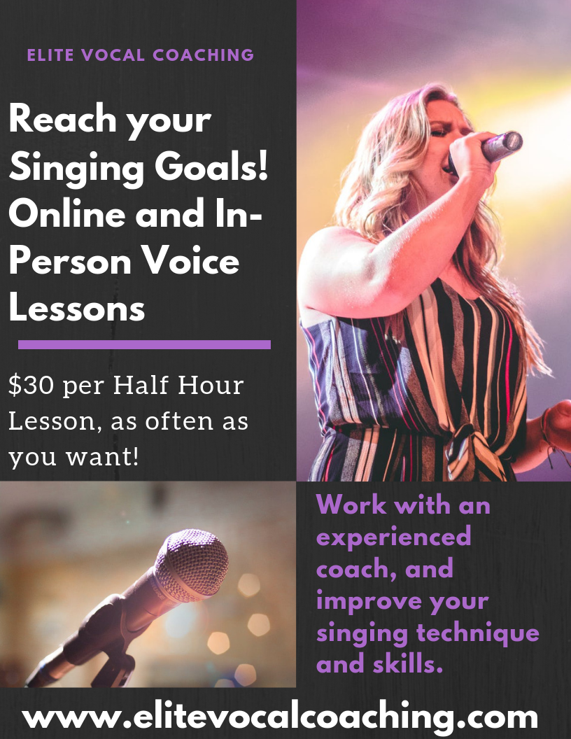 ONLINE AND IN PERSON VOICE LESSONS