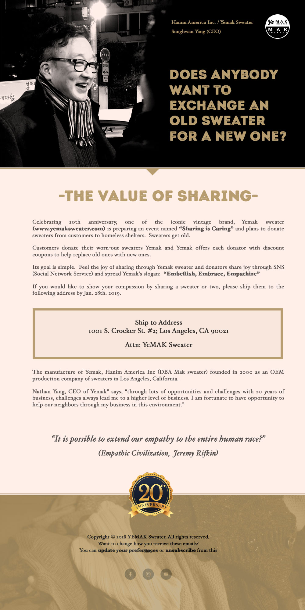 Value Of Sharing Through Yemak Sweater