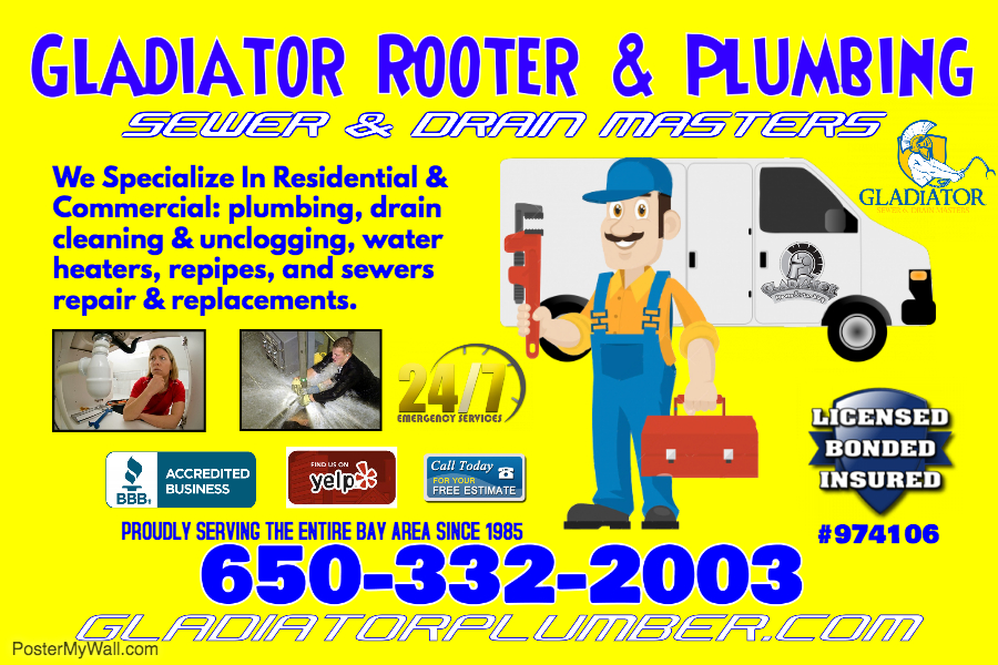 Redwood City Plumbing - Sewer & Drain Clog Plumber - 20% Off!