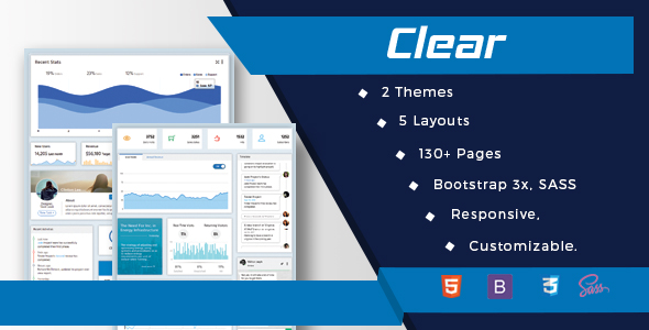 Vuejs Laravel Admin Web Template-Clear