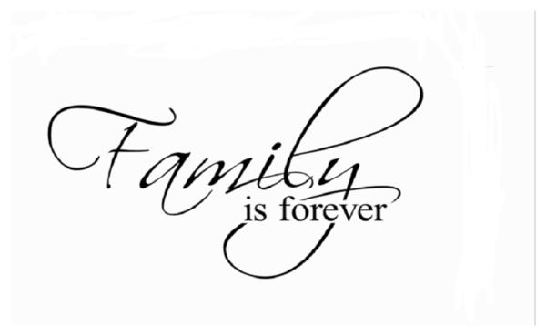 """Family is Forever"" Home Decor Creative Quote Wall Decals"