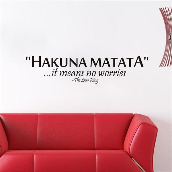 """Hakuna Matata it means No Worries"" Inspiring Quotes Wall Decal"