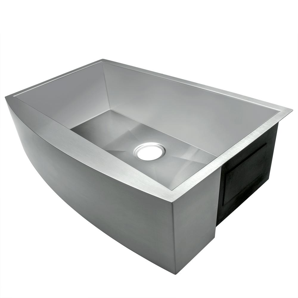 "KS0041 33"" Stainless Steel Apron Front Kitchen Sink in Brushed Finish"