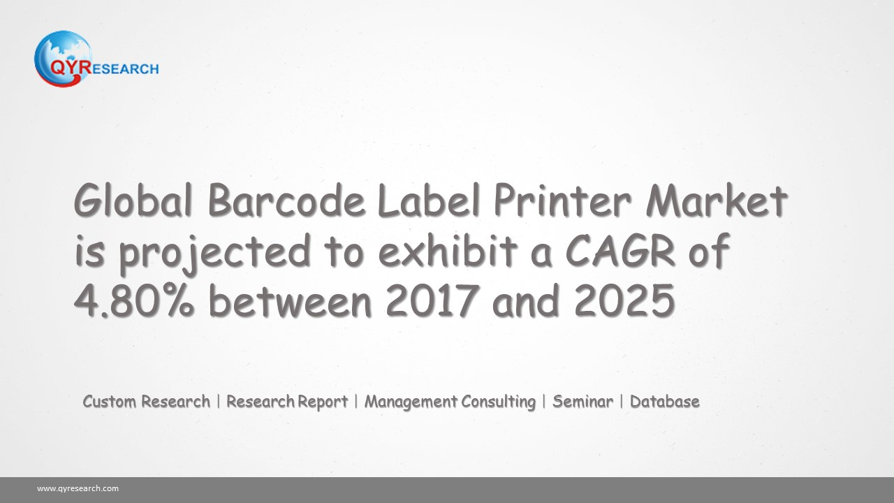 Global Barcode Label Printer Market is projected to exhibit a CAGR of 4.80% between 2017 and 2025