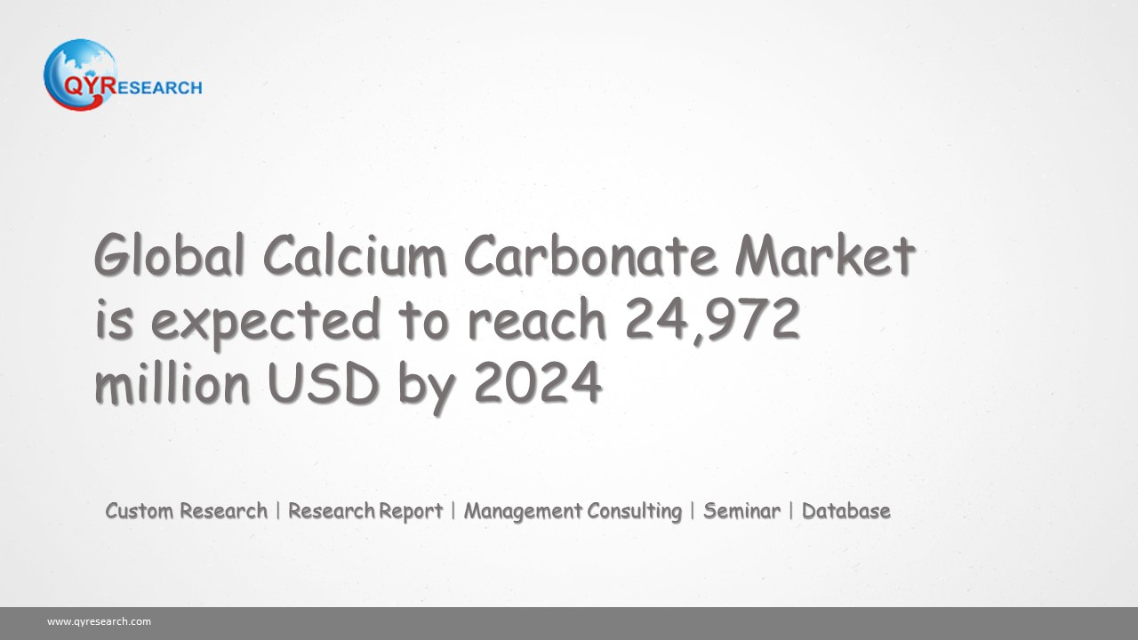 Global Calcium Carbonate Market is expected to reach 24,972 million USD by 2024
