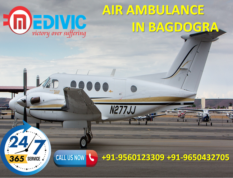 Hire Ultimate Medical Care Air Ambulance in Bagdogra by Medivic