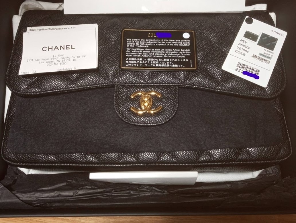 BRAND NEW 2017 AUTH Chanel JUMBO Caviar Double Flap w/receipt &tag