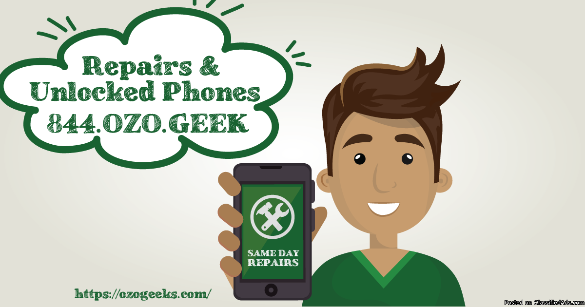 SAME DAY iPhone & iPad repair --> OUTCALL or WALK IN service available