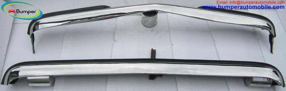 Mercedes W123 Sedan bumper (1976 – 1985) stainless steel