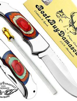 Folding Knife Multi Color Wood