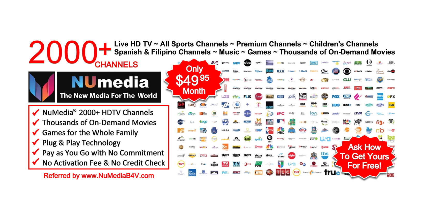 15 Day Free Trial of Streaming Media Service