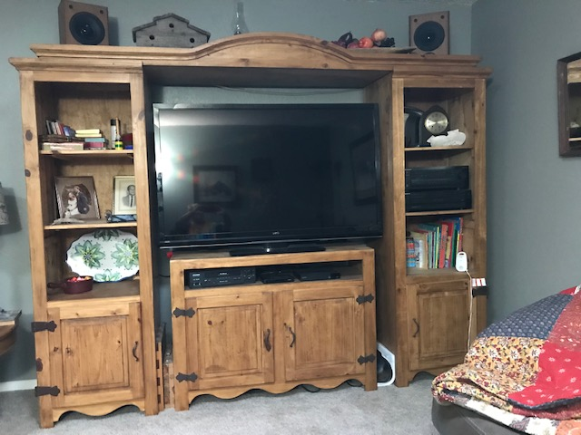 Expandable Rustic Entertainment Center