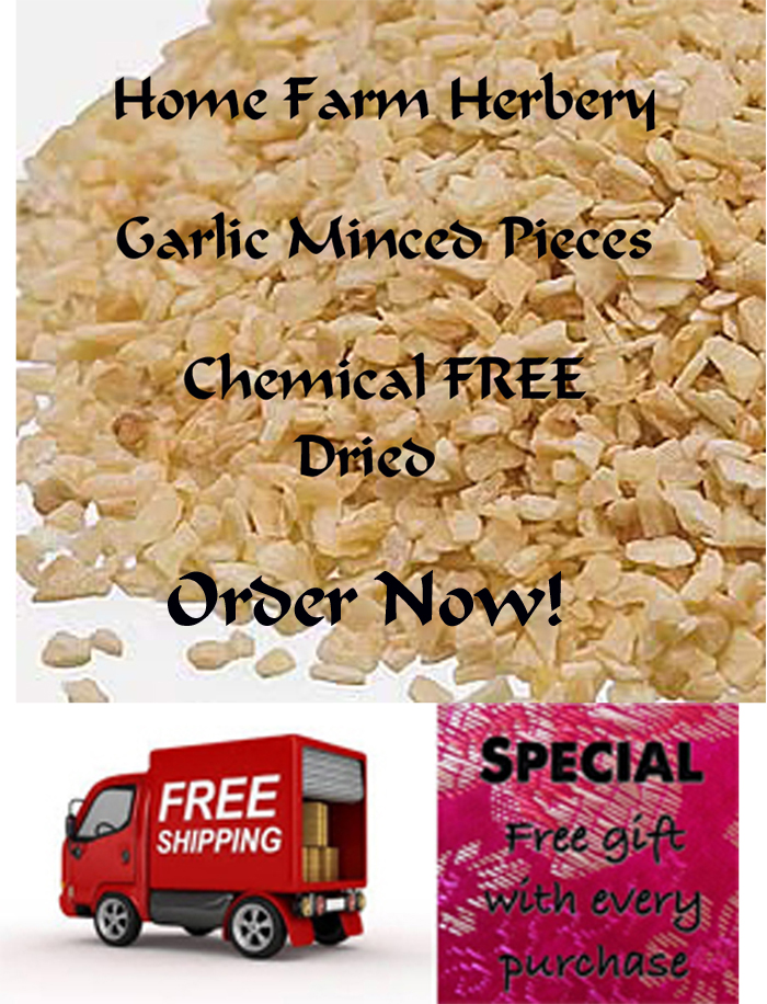 Garlic Minced Dried Pieces, Chemical FREE, FREE shipping, Order now & GET A FREE GIFT