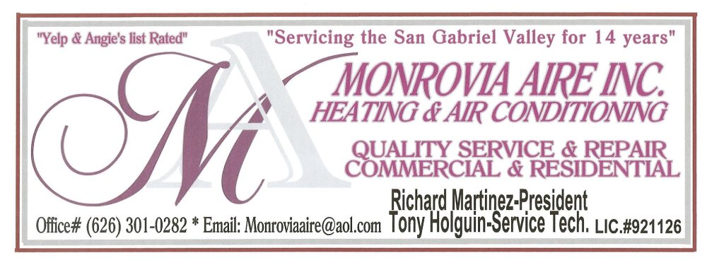 Monrovia Aire Inc. Heating & Air Conditioning