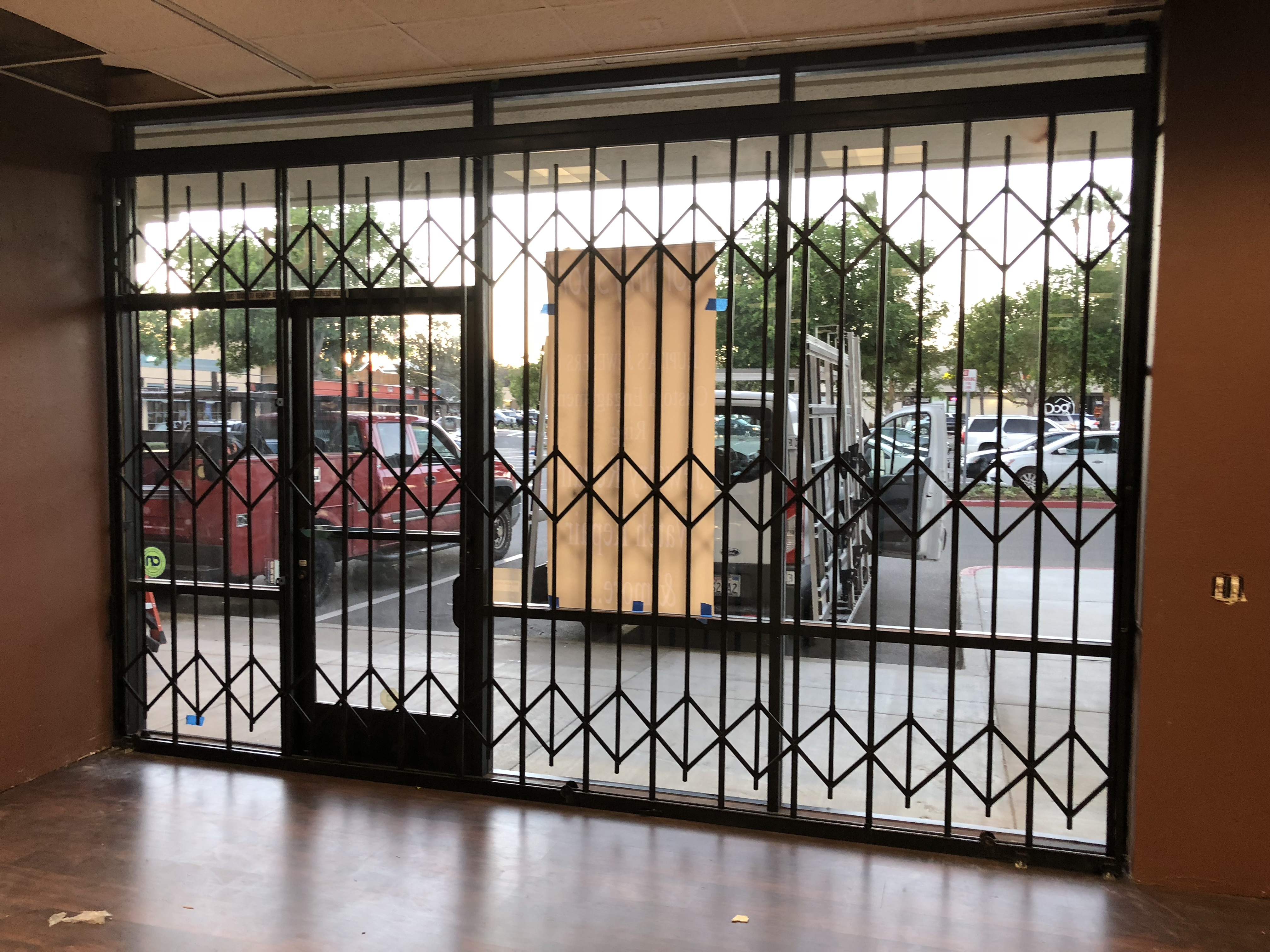 Store front security folding gates and Roll up doors