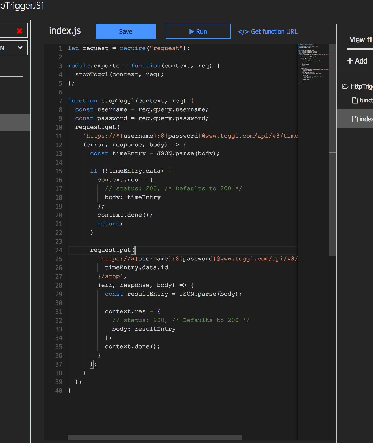 NodeJS Azure Function with Toggl | Aaron Czichon