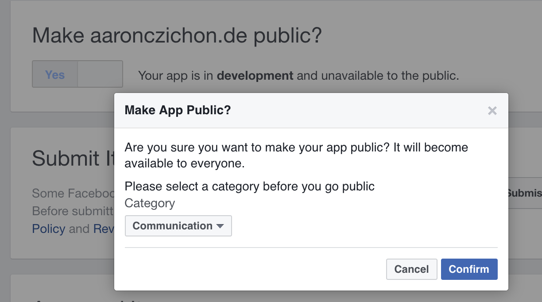 Make Facebook App public