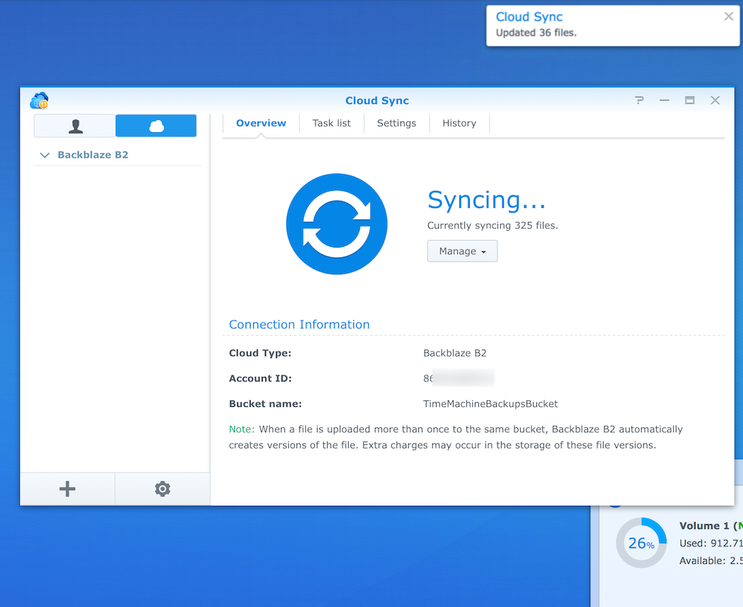 How to backup Time Machine to Synology and B2 – Help Desk
