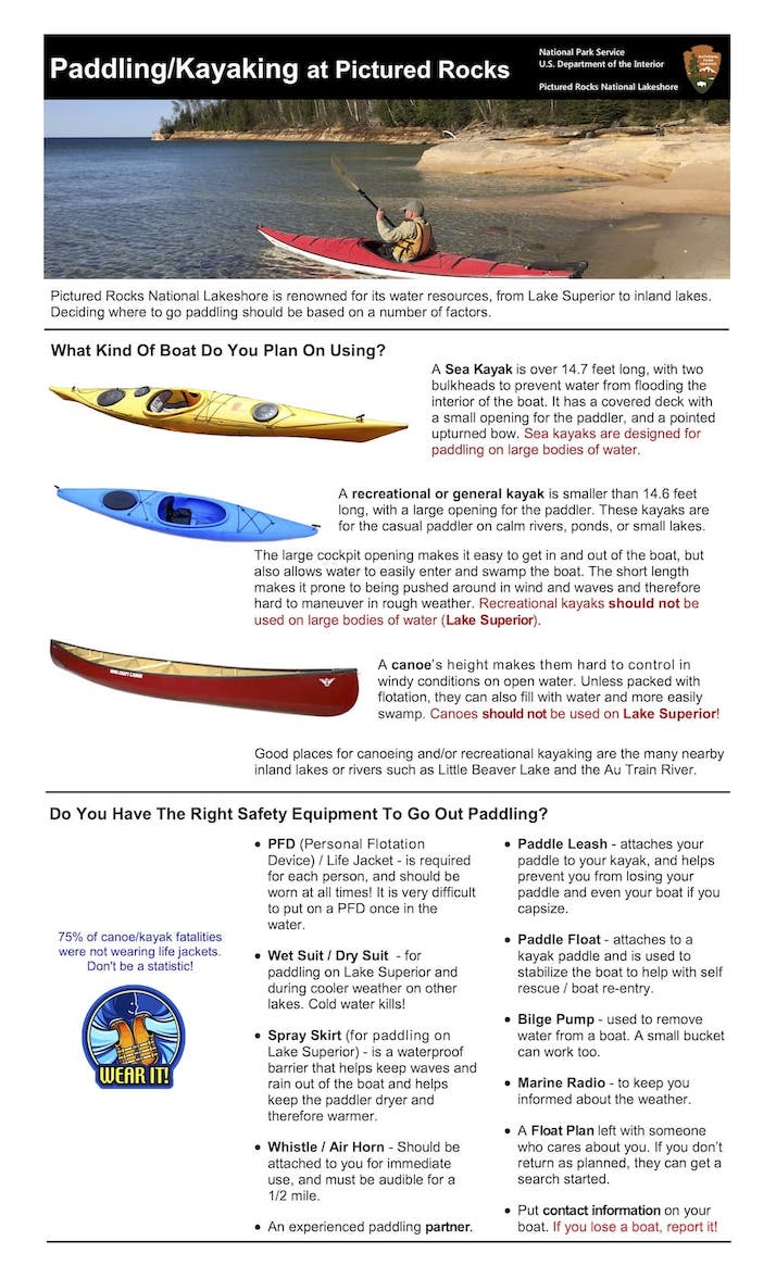 Preview image for Kayak Safety Brochure resource