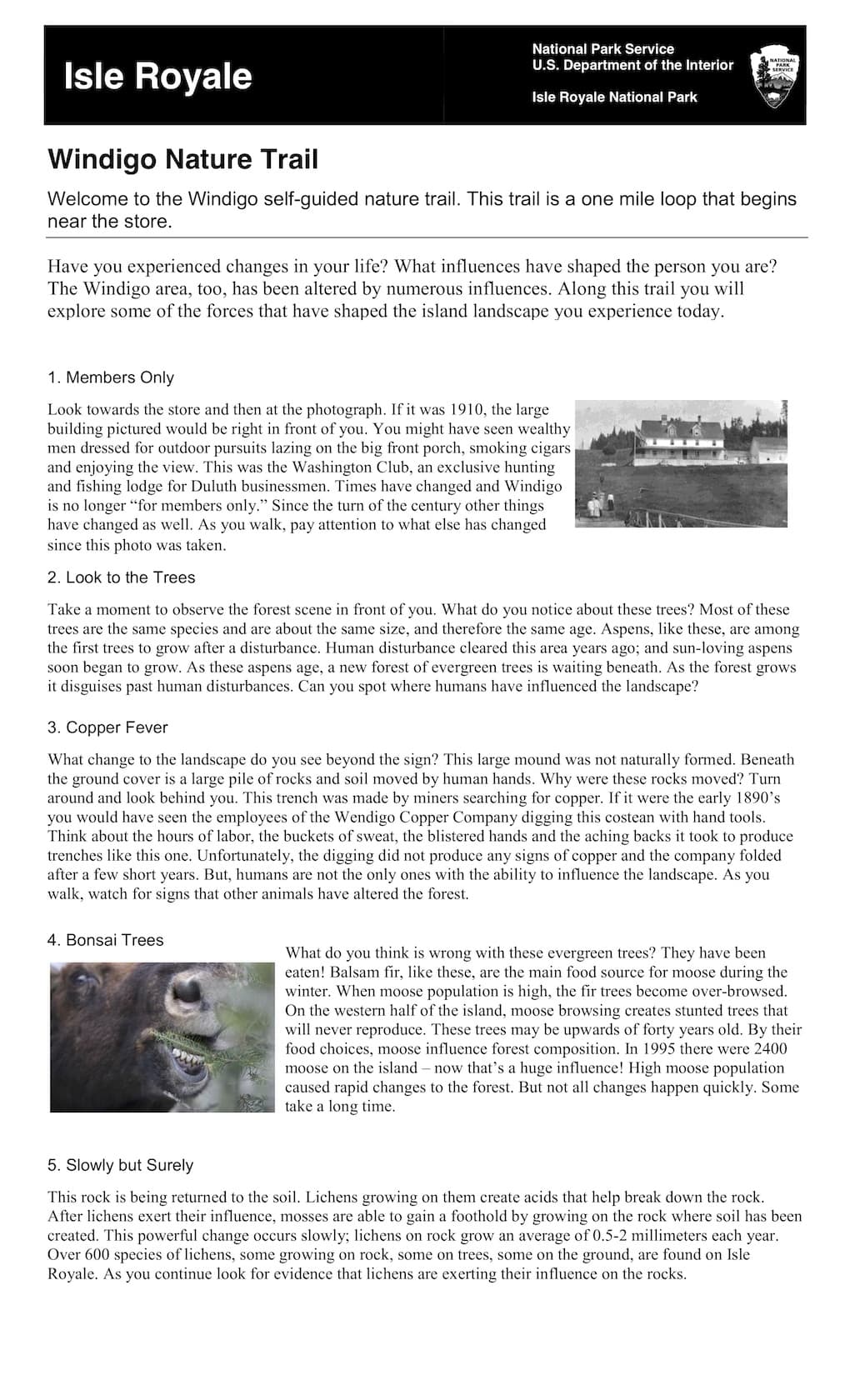 Preview image for Windigo Nature Trail Guide resource