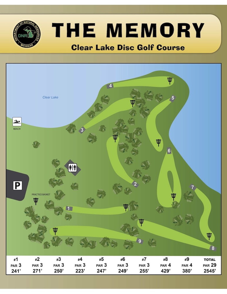Preview image for Clear Lake Disc Golf Map resource