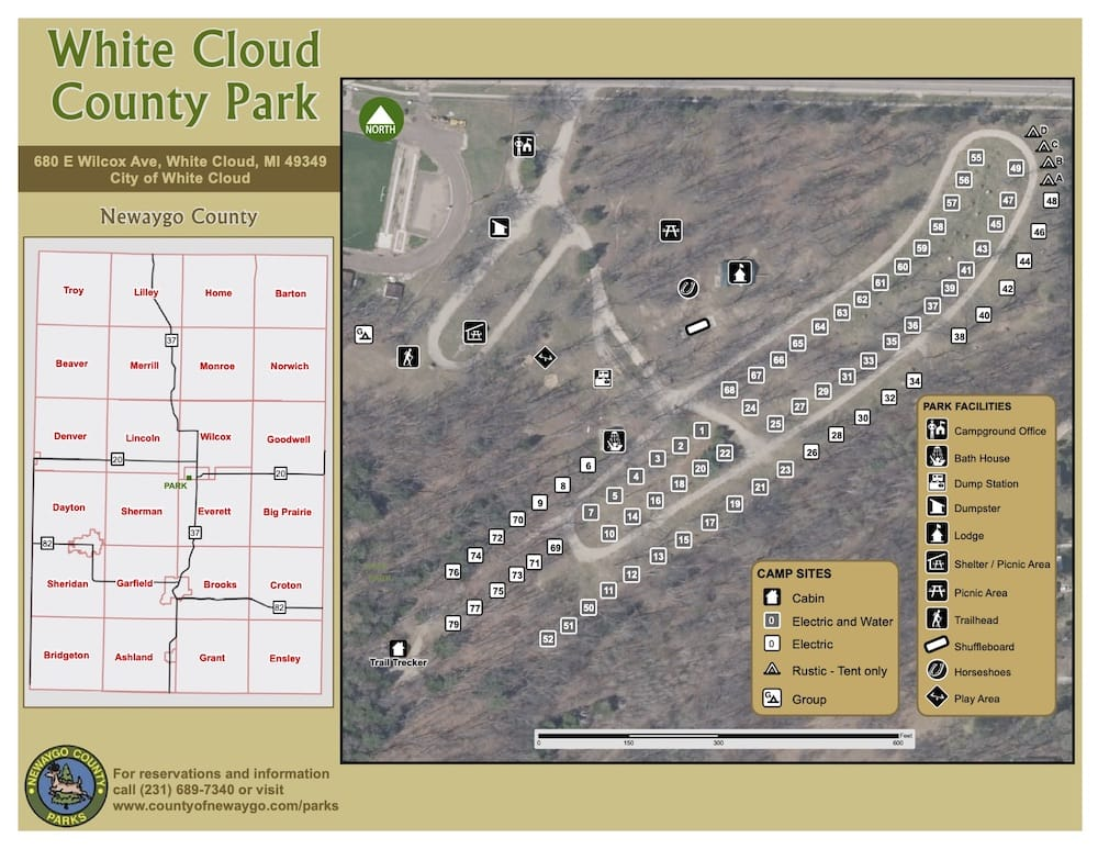 Preview image for White Cloud County Park Map resource