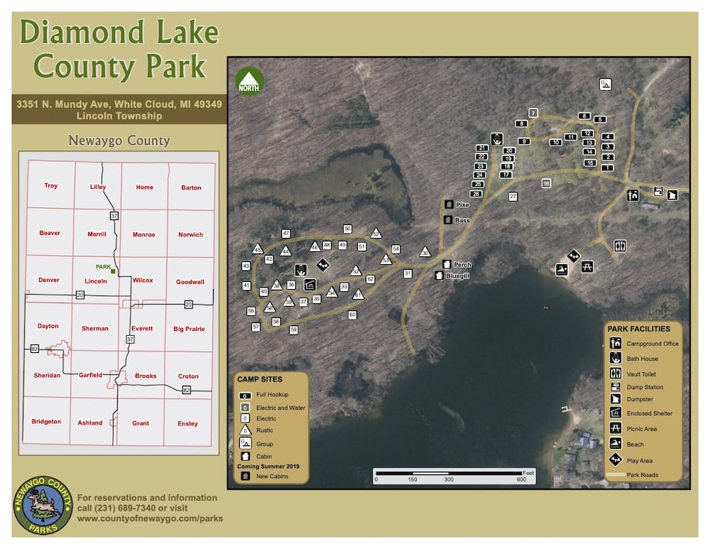 Preview image for Diamond Lake County Park Map resource